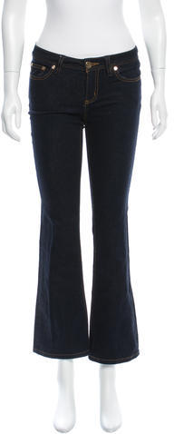 Tory Burch Tory Burch Mid-Rise Flared Jeans
