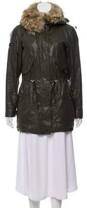SAM. Fur- Trimmed Hooded Coat