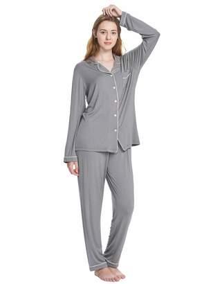 SIORO Femme Pajamas for Women Long Sleeve Sleepwear Ladies Pajamas Set Soft  Loungewear Bridesmaid Two Piece 121dc16d7