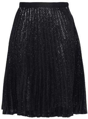 Joie Jadian Sequined Pleated Chiffon Skirt