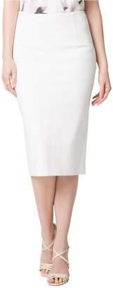Le Château Women's Ponte High Waist Midi Pencil Skirt