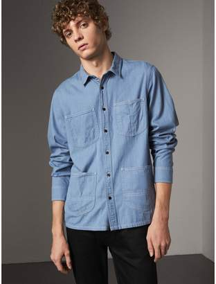 Burberry Japanese Denim Work Shirt