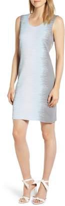 Ming Wang Print Knit Sheath Dress