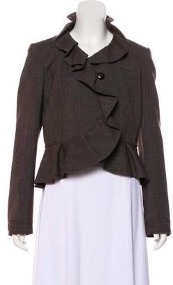 RED Valentino Wool-Blend Structured Jacket