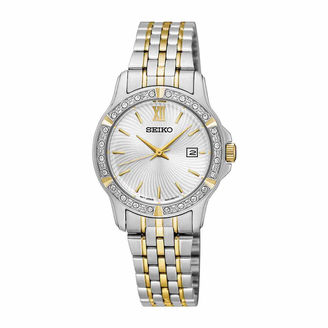 Seiko Womens Two Tone Bracelet Watch-Sur732 $260 thestylecure.com