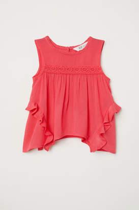 H&M Crinkled Blouse - Red