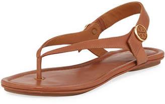 Tory Burch Minnie Leather Flat Travel Sandal