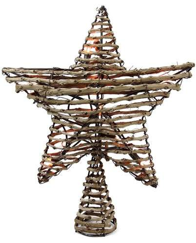 The Holiday Aisle Natural Rattan Star Christmas Tree Topper