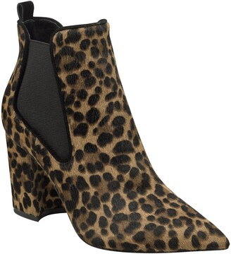 Marc Fisher Tacily Pointy Toe Genuine Calf Hair Bootie