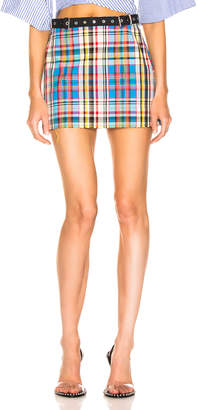 Marques Almeida Marques ' Almeida Mini Skirt in Multi Check | FWRD