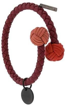 Bottega Veneta Intrecciato open bracelet