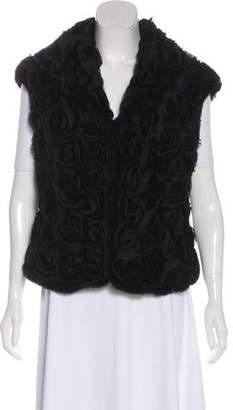 Fur Appliqué-Accented Vest