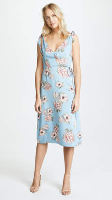 MinkPink Elysium Tie Shoulder Midi Dress
