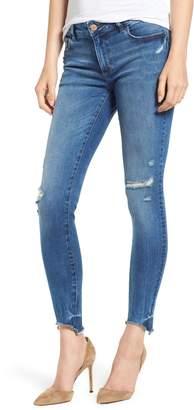 DL1961 Emma Raw Hem Low Rise Skinny Jeans