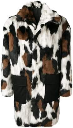 Kenzo leopard print faux-fur coat