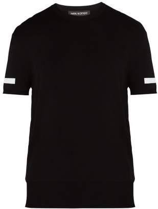 Neil Barrett - Block Stripe T Shirt - Mens - Black