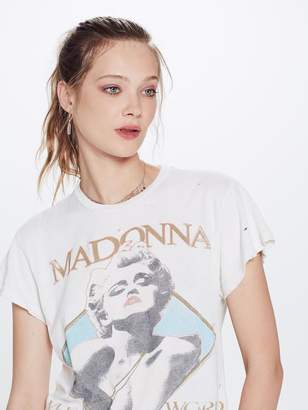 Mother MadeWorn Madonna Who's That Crew Tee Off White