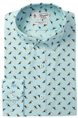 Original Penguin Toucan Print Slim Fit Dress Shirt