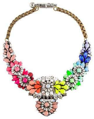 Shourouk Crystal & Resin Collar Necklace