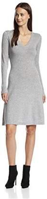 Cashmere Addiction Women's Long Sleeve V-Neck Dress