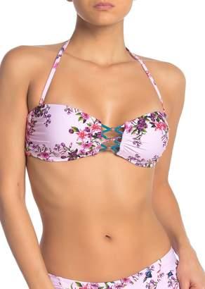 Nanette Lepore Victorian Flower Tease Bandeau Bikini Top