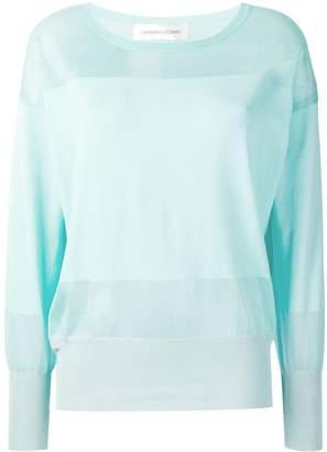 Lamberto Losani sheer panel sweater