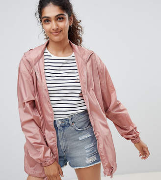 Asos Tall DESIGN Tall rain jacket with fanny pack