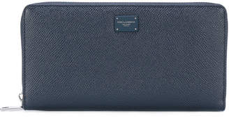 Dolce & Gabbana logo embroidered wallet