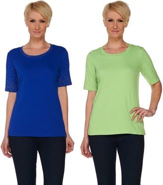 Factory Quacker Golden Tones Set of 2 Elbow Sleeve T-shirts