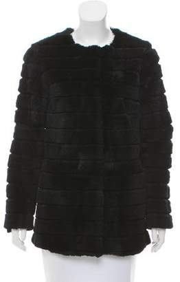 Claudie Pierlot Fur Crew Neck Jacket