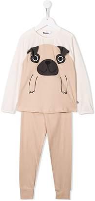 Molo Kids pug print pyjamas
