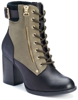 Apt. 9® Women's Two-Tone High Heel Boots $74.99 thestylecure.com