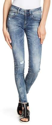 G Star Lynn Mid Rise Skinny Jeans