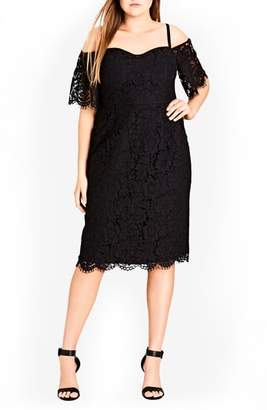 City Chic Lace Whisper Dress
