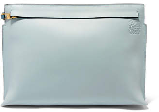 Loewe T Two-tone Leather Pouch - Blue