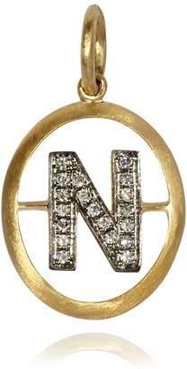 N. Annoushka Yellow Gold and Diamond Initial Pendant