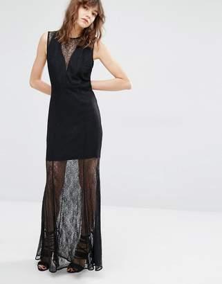 Mango Lace Detail Maxi Dress $146 thestylecure.com