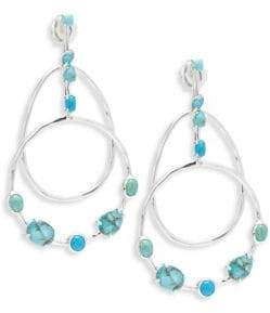 Ippolita 925 Rock Cany Large Multi-Turquoise Three-Part Drop Earrings