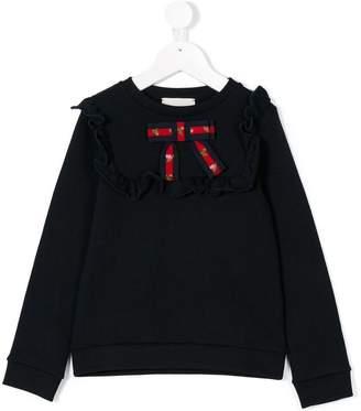 Gucci Kids ruffle detail sweatshirt