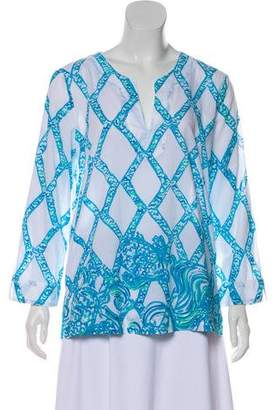 Lilly Pulitzer Long Sleeve Printed Blouse