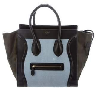 Celine Tricolor Ponyhair Mini Luggage Blue Tricolor Ponyhair Mini Luggage