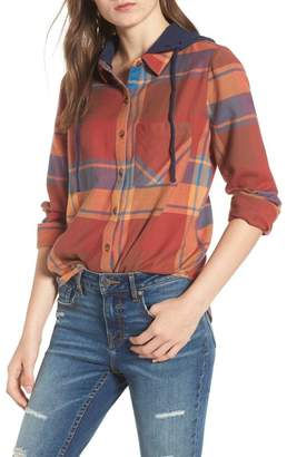 BP Hooded Plaid Shirt