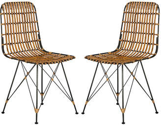 One Kings Lane Rae Natural Wicker Side Chairs - Set of 2