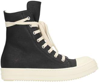 Drkshdw Black Canvas Ramones Sneakers