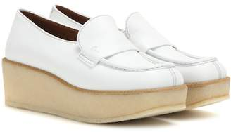 Tomas Maier Leather platform loafers