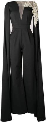 Loulou cape sleeves jumpsuit