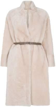 Peserico Tonal Sheepskin Coat