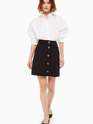 Kate Spade Jewel button crepe skirt
