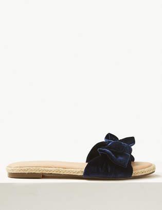 Marks and Spencer Velvet Bow Mule Sandals