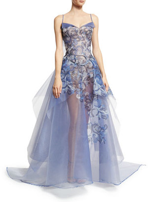 Zac Posen Embroidered Guipure Sleeveless Ball Gown, Multi Garden $9,990 thestylecure.com